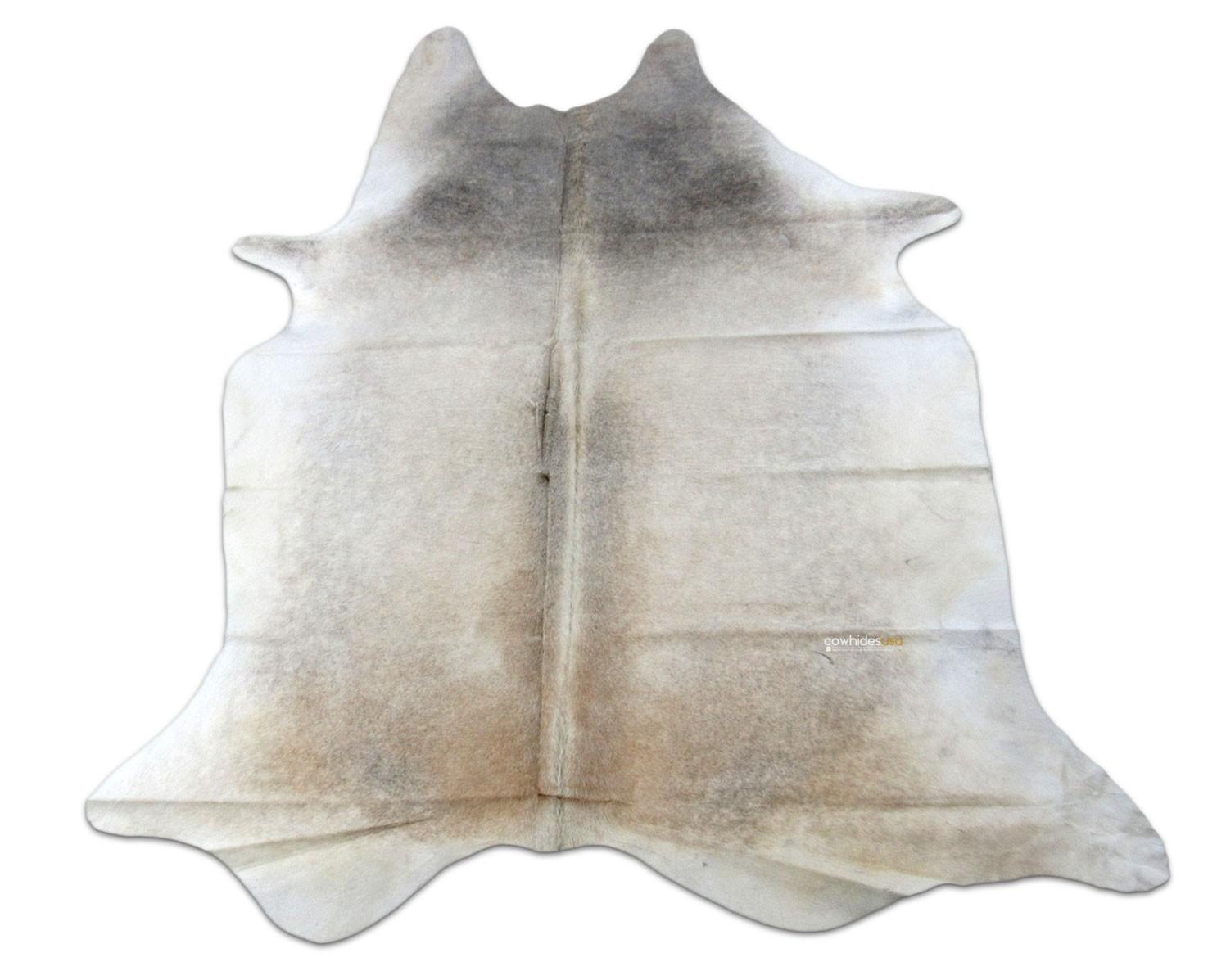 Grey Beige Cowhide Rug