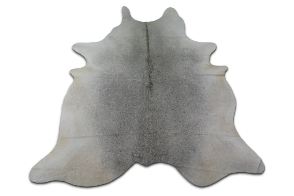 Grey Cowhide Rug Size: 7.5 X 6.7 ft Natural Brazilian Gray Cow Hide Skin M-003