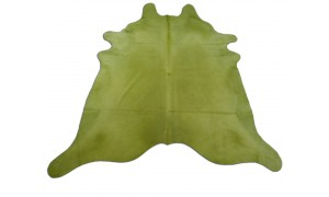 Dyed Lime Green Cowhide Rugs Size: ~7 X 7 ft Dyed Lime Green Cowhide Rugs