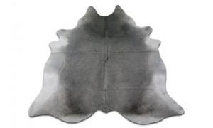 Grey Cowhide Rug Size: 8.4' X 7' ft HUGE Gray Cow Hide Skin Rug M-002