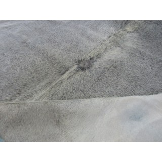 Grey Cowhide Rug Size: 6.6' X 7' ft Gray  Cow Hide Rug D-984