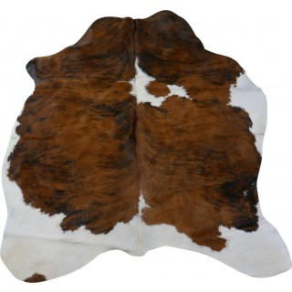 Tricolor Brindle Cowhide Rug Size: 7' X 6' ft Tricolor Cow Hide Skin Rugs