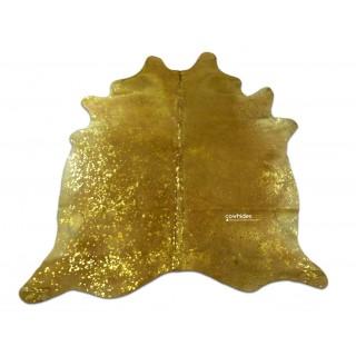 gold metallic cowhide rug size 77u0027 x 74u0027 gold metallic on beige cow