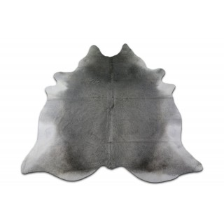 Grey Cowhide Rug Size: 8.4' X 7' ft HUGE Gray Cow Hide Skin Rug M-002