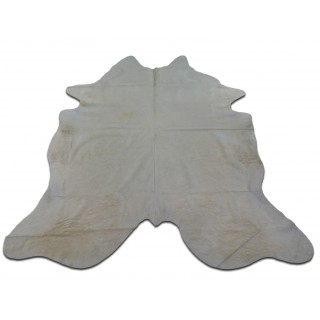 White Cowhide Rug Size: 7.5 X 7 ft Off-white Cow Hide Skin Rug M-032