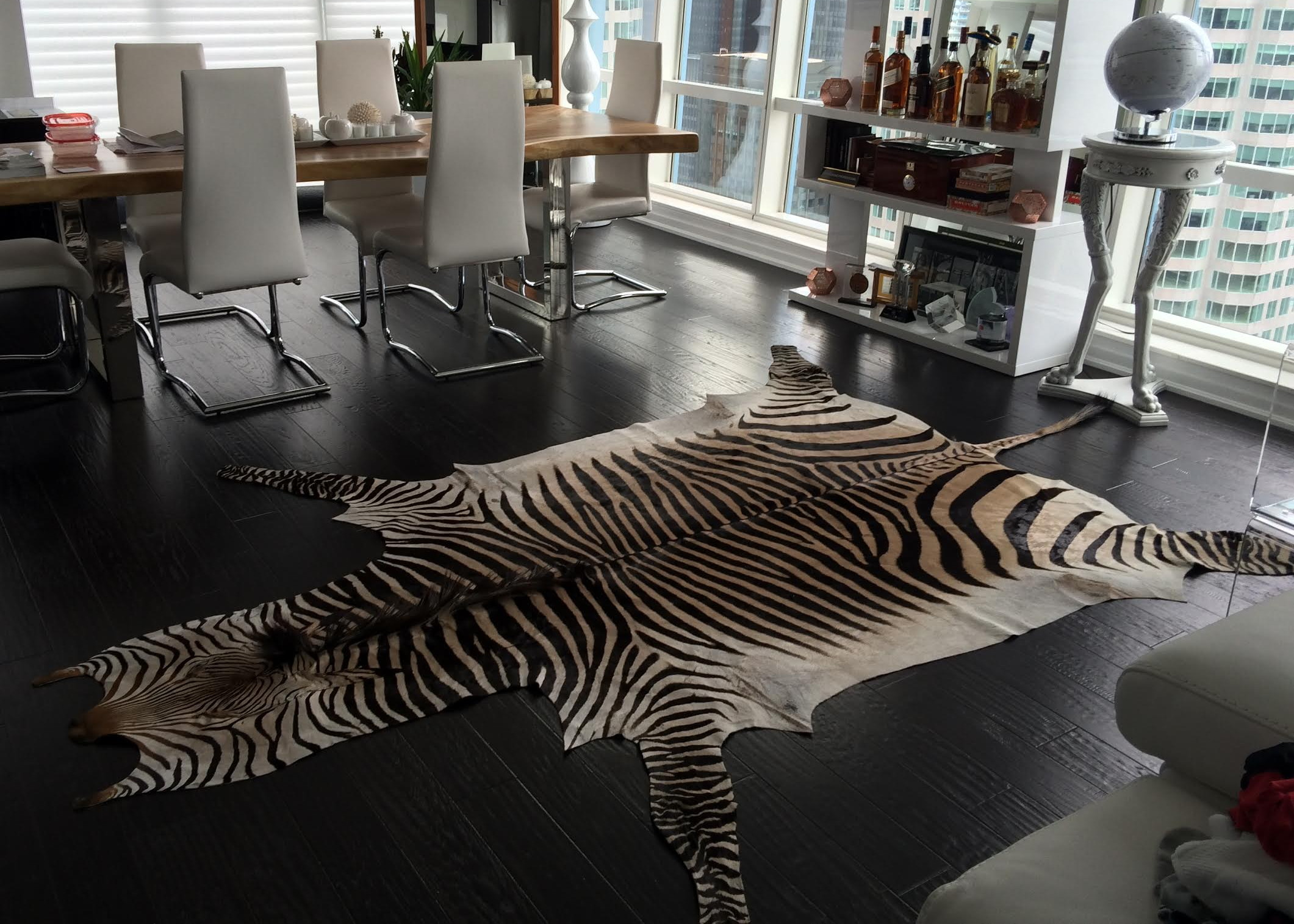 Genuine Hartmann Mountain Zebra Skin Rug
