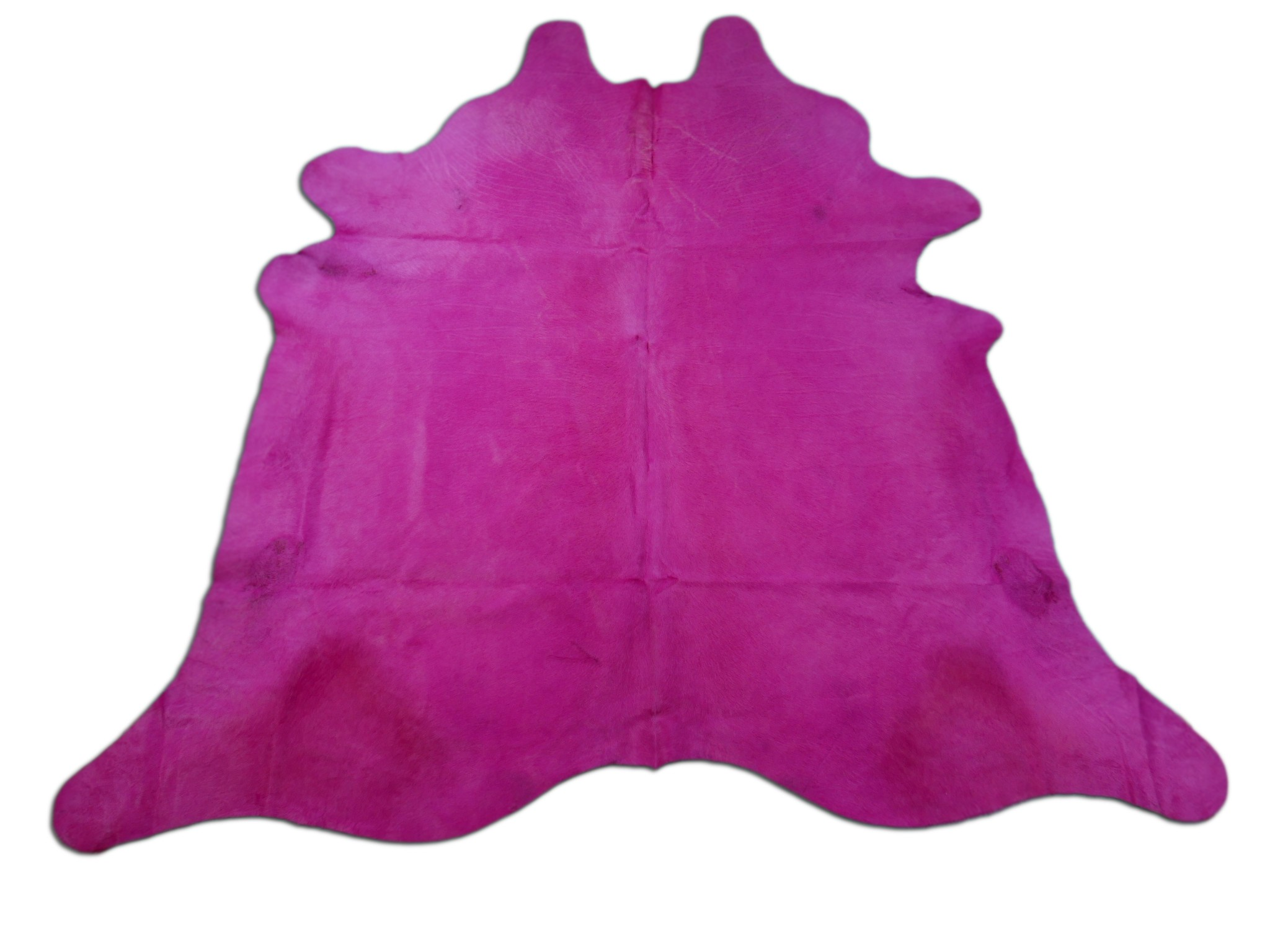 Dyed Pink Cowhide Rugs Size: ~7 X 7 ft Dyed Pink Cowhide Rugs
