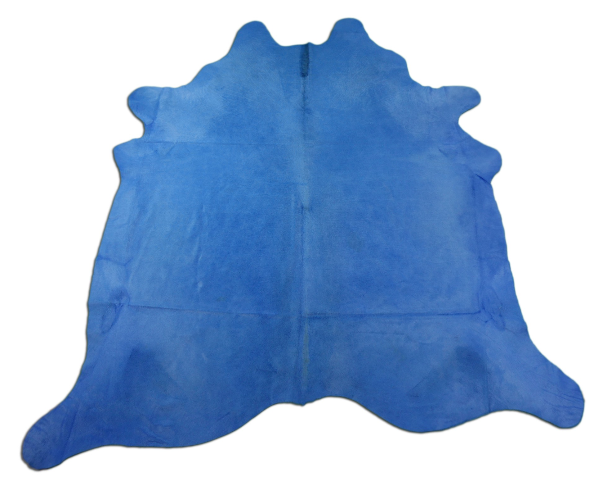 Dyed Light Blue Cowhide Rugs Size: ~7 X 7 ft Dyed Light Blue Cowhide Rugs