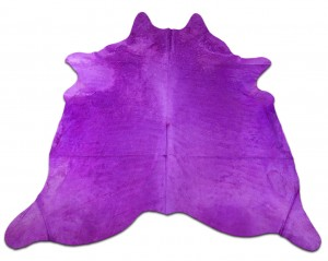 Dyed Magenta Cowhide Rugs Size: ~7 X 7 ft Dyed Magenta Cowhide Rugs