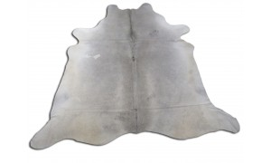 Solid Grey Cowhide Rugs Size ~ 7 X 7 ft