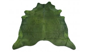 Dyed Green Cowhide Rugs Size: ~7 X 7 ft Dyed Green Cowhide Rugs