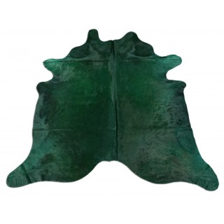 Dyed Emerald Green Cowhide Rugs Size: ~7 X 7 ft Dyed Emerald Green Cowhide Rugs