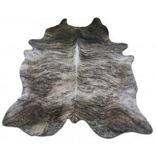 Huge Grey Brindle Cowhide Rug Size: 8' X 6.3' ft Gray Brindle Cow Hide Rug M-035