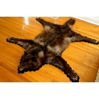 Black Wolf Rug